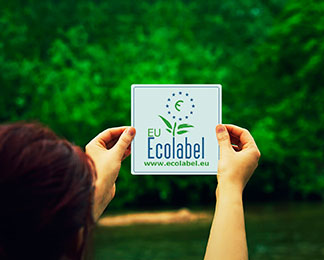 What does sign EcoLabel on office paper mean?