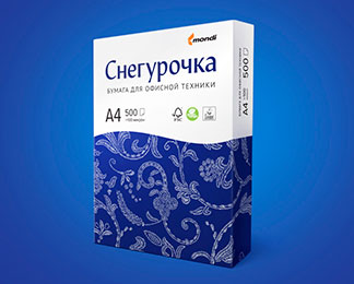 Mondi presents the rebranding of Snegurochka office paper